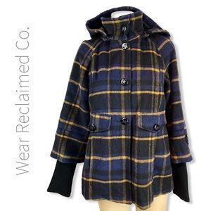 VERO MODA Checkered Coat W/ Sweater Sleeves
